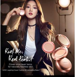 LANEIGE's NEW Real Me Conceal&Cover Cushion foundation