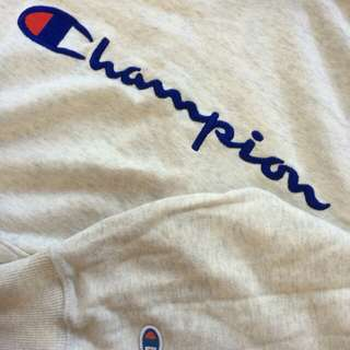 Champion Script Embroidery Hoodie