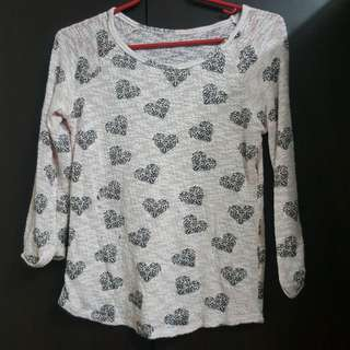 HnM heart shaped top