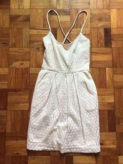 Mango cream dress
