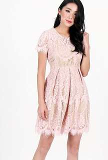 [WTS] LOVET KATRINA LACE SLEEVE DRESS (DUSTY PINK)