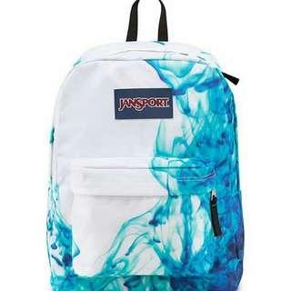 Authentic Jansport Bag - Blue Drip Dye