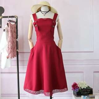 dress red lace high quality body weight within 65 kg