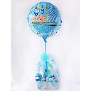 Oswald Penguin Baby Boy Gift Basket