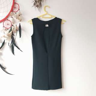 Black Bodycon Dress with Keyhole Back detail