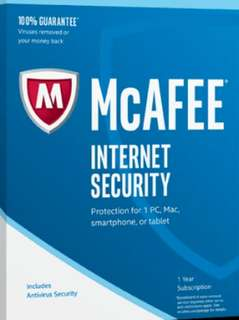 Mcafee antivirus (card provided)