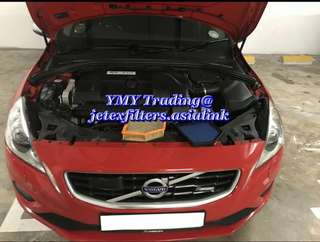 Another limited Volvo S60 T6 3.0cc engine running on road with the replacement of jetex performance high flow 99% filtration at 2.8 microns air Filter ..