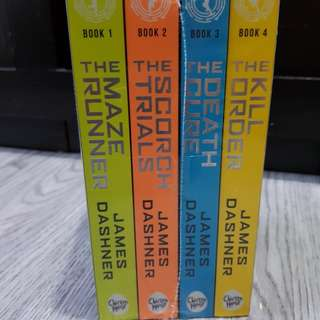 The Maze Runner Book Set - Brand New