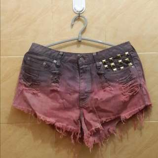 OMBRE RED SHORT
