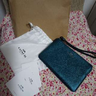 COACH purse - shiny green with gift box (from Canada )