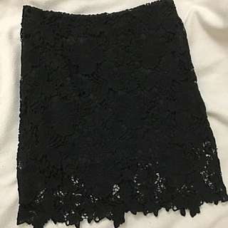 Forever 21 Black Lace Skirt