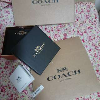 COACH earring gift box