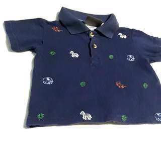 Boyz Wear by Nannette Navy Blue Polo shirt, fits 12-18mos