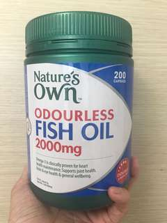 Nature's Own Odourless Fish Oil 2000mg