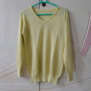 Yellow Bling-Bling Sweater