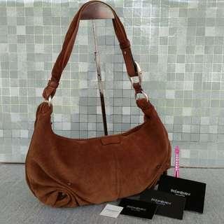 YSL Suede leather shoulder bag