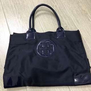 🈹Tory Burch Ella Packable Tote Bag  Navy Blue🈹