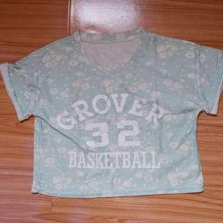 Crop top basketball tosca pastel