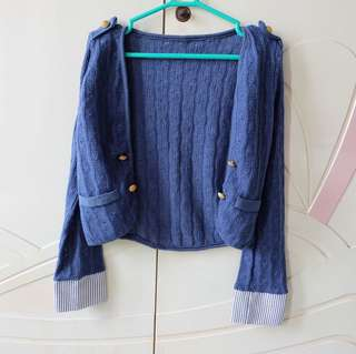Denim Rajut Cardigan