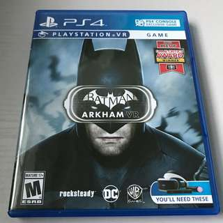 Playstation VR Batman Arkham