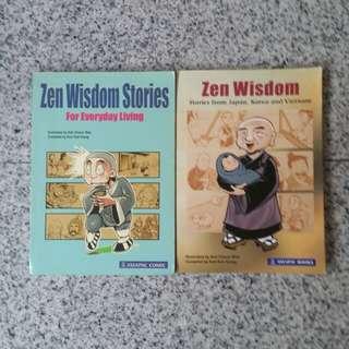 Zen Wisdom + laughing buddha story books