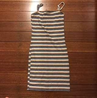 Basic 70's vibe slim fit dress