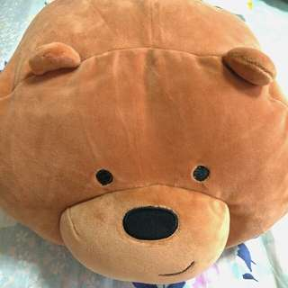 We Bare bears grizzly pillow