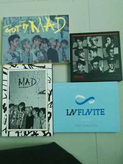 Got7, Super Junior, Infinite albums