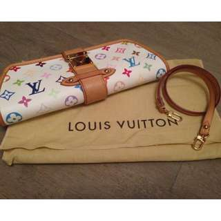 Louis Vuitton Limited Edition White Monogram Clutch
