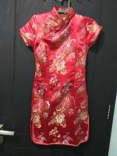 Cheongsam Jibao Dress Imlek Merah