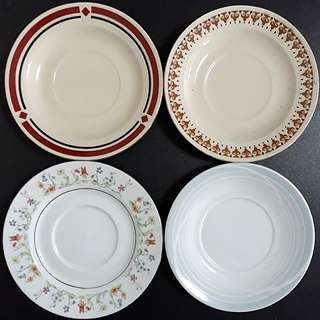 Vintage 1970s to 1980s Porcelain Saucer Plates