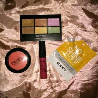 Makeup bundle (BYS,  Nyx,  Imagic,  Quickfx)