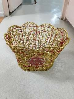 Metal With Golden String Basket