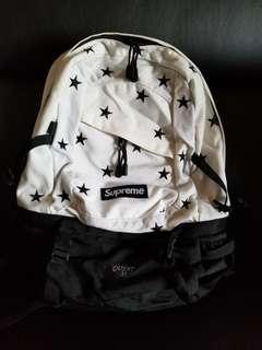 SUPREME 白色星星圖案背囊