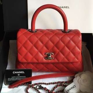 Authentic Chanel Coco Small Red Caviar