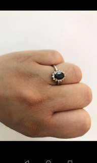 Princess Diana's Inspired Blue Sapphire Diamond Ring (15k for cash, 18k open for lay-away)