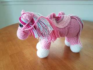 Crocheted pony bag