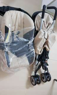 Hauck Stroller with Reversible Baby Carrier