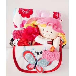 Flower Baby Girl Gift Basket