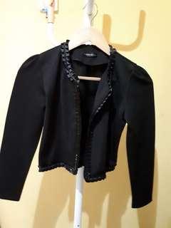 Croped Black Blazer