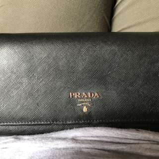 Prada Saffiano Wallet On Chain WOC