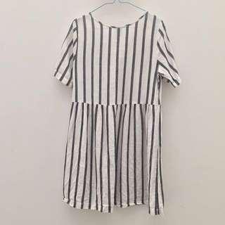 m Linen Striped dress