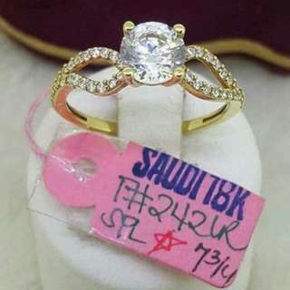 Sg18k ladies rings 2.42g