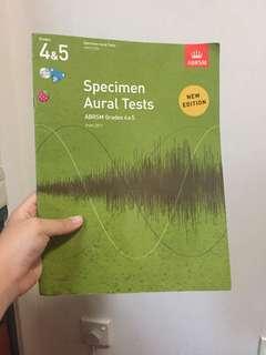 Grade 4 and 5 Specimen Aural Tests