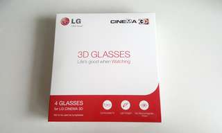 LG Cinema 3D Glasses Box of 4