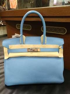 Hermes birkin 30 blue paradise