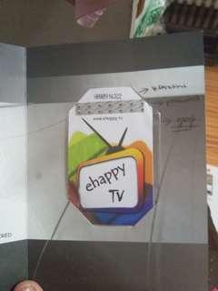 EHappy TV Subscription worth 7k