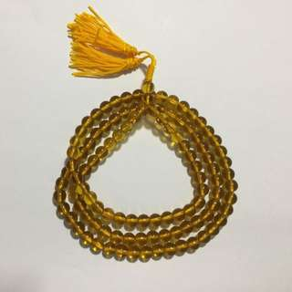 Yellow crystal beads