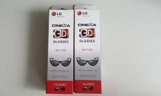 LG Cinema 3D Glasses x2 AG-F310