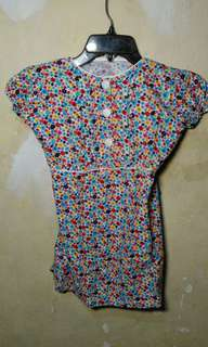 Blue flowers baju anak 9-11th